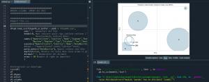 Esempio di codice in una lezione di un corso di Python